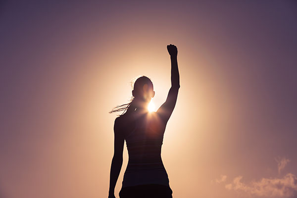 woman feeling empowered